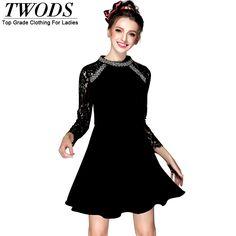 S- 5xl Lace Long Sleeve Vintage Dress Beading Mock Neck Slim Little Black Skater Dress WOW http://www.artifashion.net/product/s-5xl-lace-long-sleeve-vintage-dress-beading-mock-neck-slim-little-black-skater-dress/ #shop #beauty #Woman's fashion #Products
