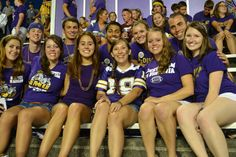@JMU The Madison Society  JMU Traditions-Always wearing purple and gold.  Ashley Parrales, Senior