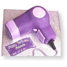 hair dryer cake - Google Search Hair Stylist Cake, Vintage Tea, Tea Party, Happy Birthday, Stylists, Cakes, Hair Dryer, Beauty, Google Search