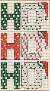 Ho Ho Ho - CROSS STITCH chart