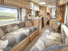 Pegasus GT65 Ancona - front dinette through to rear washroom