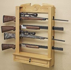 Wooden Gun Rack Woodworking Projects Amp Plans