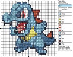 158 - Totodile by Makibird-Stitching on DeviantArt