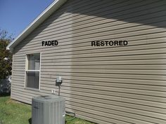 On Sale Now.Vinyl Renu is super easy to use, Costs just 14 Cents Per Square foot, Results can last 10 years. The best way how to restore faded vinyl siding.