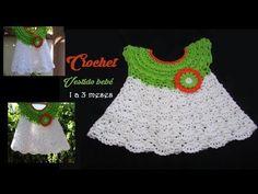 Vestido Crochet para Bebe 0 meses Pistache - YouTube