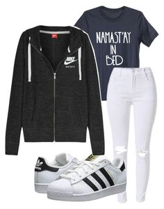 """""""school outfit"""" by rabiamiah on Polyvore featuring adidas Originals and NIKE"""