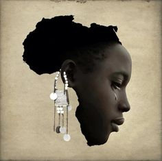 Map of Africa proposed by writer Mia Couto to denounce the situation of women on the continent