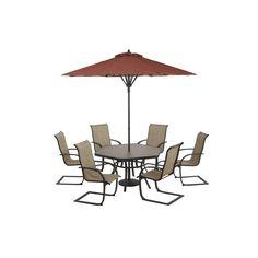 Garden Treasures Hayden Island In X In Steel Hexagon Patio - Hexagon glass dining table