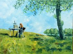 Painting en plein air Outdoor Studio by ~NancyvandenBoom on deviantART
