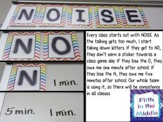 NOISE system to control noise levels in your classroom #freebie