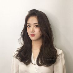 그레이스펌 Side Bangs Hairstyles, Haircuts For Long Hair, Permed Hairstyles, Hair Inspo, Hair Inspiration, Ulzzang Hair, New Hair Look, Hair Looks, Hair Type