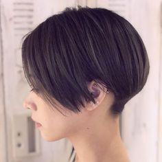 Asian Short Hair, Short Straight Hair, Asian Hair, Girl Short Hair, Short Hair Cuts, Short Hair Styles, Short Hair Undercut, Undercut Hairstyles, Short Bob Hairstyles