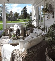 The White (Dream) Farm: Outdoors - # Dream Pergola Ideas Outdoor Rooms, Outdoor Living, Outdoor Decor, Estilo Country, Balkon Design, Outside Living, Porch Decorating, Backyard Patio, Interior And Exterior