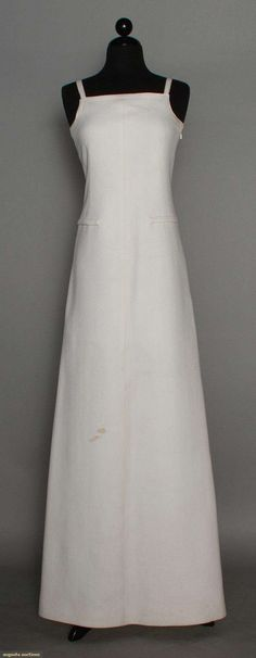 Courreges White Evening Gown, Late 1960s, Augusta Auctions, November 12, 2014