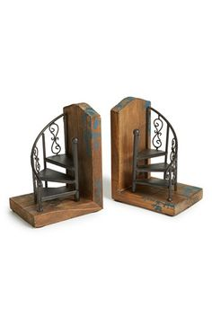These spiral staircase bookends are AWESOME! Import Collection 'Marris' Bookends | Nordstrom