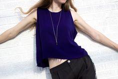 Tienda Ho tank and AEA bloodstone necklace at Garment