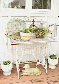 HOME & GARDEN: 60 idées pour recycler vos vieilles machines à coudre