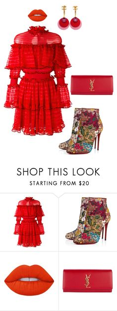 """""""Untitled #59"""" by stylemezamar ❤ liked on Polyvore featuring Alexander McQueen, Christian Louboutin, Lime Crime, Yves Saint Laurent and Chanel"""