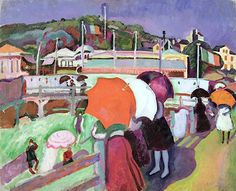 bofransson:  The Three Umbrellas, 1906 (oil on canvas), Dufy, Raoul (1877-1953)