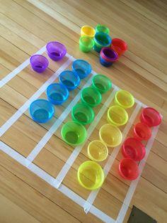 Separar os potinhos por cores