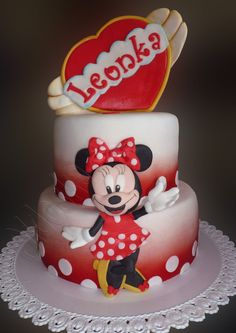 Minnie ...make the cake...and put one of her dolls on top or beside it