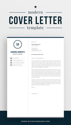 Focus on your cover letter content instead of stressing about the letter's formatting. Use a professionally designed template and make your cover letter look amazing. Get the resume template pack Sabrina with matching resume, cover letter and references templates, and create an impressive job application today! #coverletter #resume #resumetemplate #cv #cvtemplate #career #careeradvice #job #jobsearch One Page Resume Template, Modern Resume Template, Creative Resume Templates, Professional Cover Letter Template, Cover Letter For Resume, Resume References, Microsoft Word 2007, Manager Resume, Cv Design