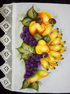 Fruit Painting, Fabric Painting, Beautiful Landscapes, Machine Embroidery Designs, Stencils, Diy Crafts, Deco, Wallpaper, Pasta