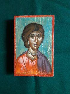 A byzantine portrait, by Aggeliki Papadomanolaki I Icon, Byzantine, Portrait, Painting, Art, Art Background, Headshot Photography, Painting Art, Kunst