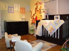Love this theme...baby bedroom pooh theme 10 Winnie the Pooh Baby Room Themes