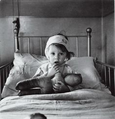 London Bomb Victim: Cecil Beaton, Eileen Dunne at Great Ormond Street Hospital, 1940, WWII