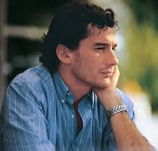 Ayrton Senna - Absorbed in thinking.  This was an intense man.