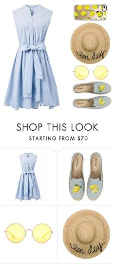 """Espadrilles"" by whitehawksun ❤ liked on Polyvore featuring Chicwish, Soludos, Ray-Ban, Eugenia Kim, Casetify and espadrilles"