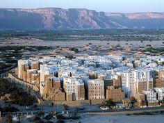 La ciudad de Shibam, Yemen. Quizás tienen algunos de los rascacielos más antiguos conocidos.
