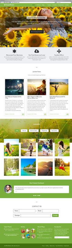 StartPoint Nature Business One Page Theme