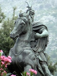 """Gjergj Kastrioti. B: 6 May 1405 D: 17 January 1468. Widely known as Skanderbeg (from Turkish: İskender Bey, meaning """"Lord Alexander"""", or """"Leader Alexander"""") Fought the Ottomans for 20 years. Albania's number one hero. Statue in the town of Kruja. And - VisitTirana.com is for sale."""
