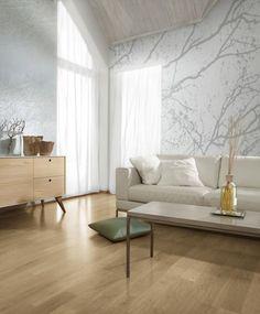 Wood 2484 Vliestapete Astwerk Hellgrau Weiß Digital Art