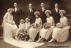 A history lesson in 1920s weddings! http://www.vintagegown.com/history/history_1920a.htm