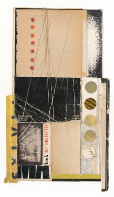 This portfolio is a collection of small book collages on paper