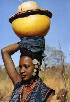 West African woman.  ca. 1968 | Vintage postcard; publisher HAO QUI, No.4582