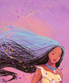 can i just point out that pocahontas' hair is way too cool 'specially when it's whipping in the wind. mine never, ever, ever looks like that.