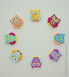 Tip: Papers I usually buy on Ebay or Origami Shop. Japanese books I tend to buy from CDJapan. You can see by looking closely on the following pictures how to build your Bead Owls as well as the Bead Tree. It is actually quite simple, just take your small and regular square bead boards and …