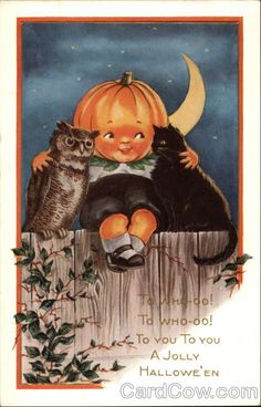 A Jolly Hallowe'en-the night cats and owls become friends.