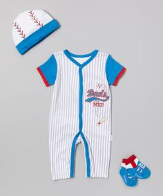 Take+a+look+at+the+Vitamins+Baby+Blue+Stripe+'Dad's+MVP'+Playsuit+Set+-+Infant+on+#zulily+today!