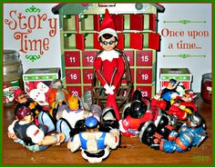 Reading to the Rescue Heroes.  Elf on the Shelf