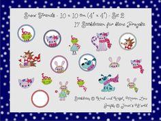 10x10 Stickdateien Snow Friends Set 2 (17 Dateien) von kindundkegel-shop auf DaWanda.com  Oder auch auf www.kindundkegel-shop.de