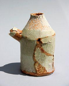 jane wheeler Ceramics by Jane Wheeler at Studiopottery.co.uk - Porcelain inlay saltmarsh vessel 45cm x 17cm. stoneware slab-built inlaid with porcelain crumbs, glazed with dolomite/tin/copper