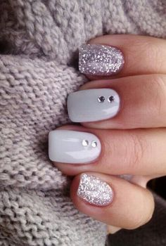 Gray with sparkles