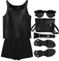 """""""All black"""" by maartinavg ❤ liked on Polyvore"""