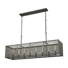 ELK Lighting 31512/8 Perry Collection Malted Rust Finish