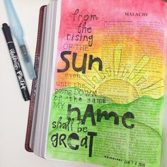 WEBSTA Wednesday showed us how to do a sunset and I just had to try! I chose Malachi to illustrate. I'm still trying to learn how to blend these particular watercolors but I'm happy with my first try. New Bible, Faith Bible, Scripture Art, Bible Art, Bible Verses, Book Of Malachi, Bible Prayers, Beach Quotes, Illustrated Faith